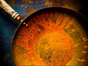Ржавеет чугунная сковорода